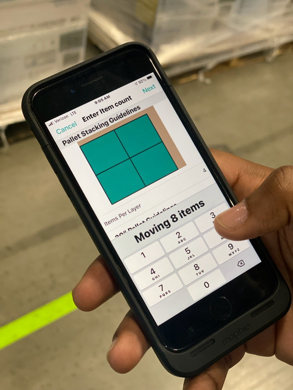Recently, Clutter released a feature to present the optimal pallet composition for a given Stock Keeping Unit (SKU) in our internal iOS app for our wa