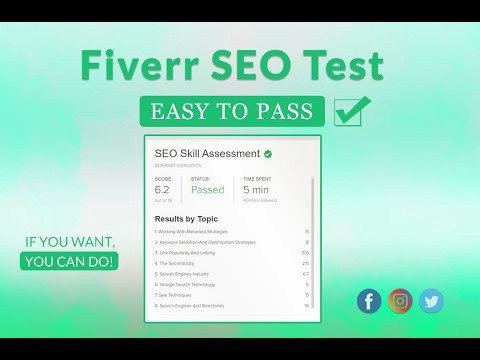 how to pass fiverr test 2021