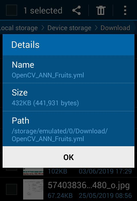 Image Classification on Android using OpenCV - Heartbeat