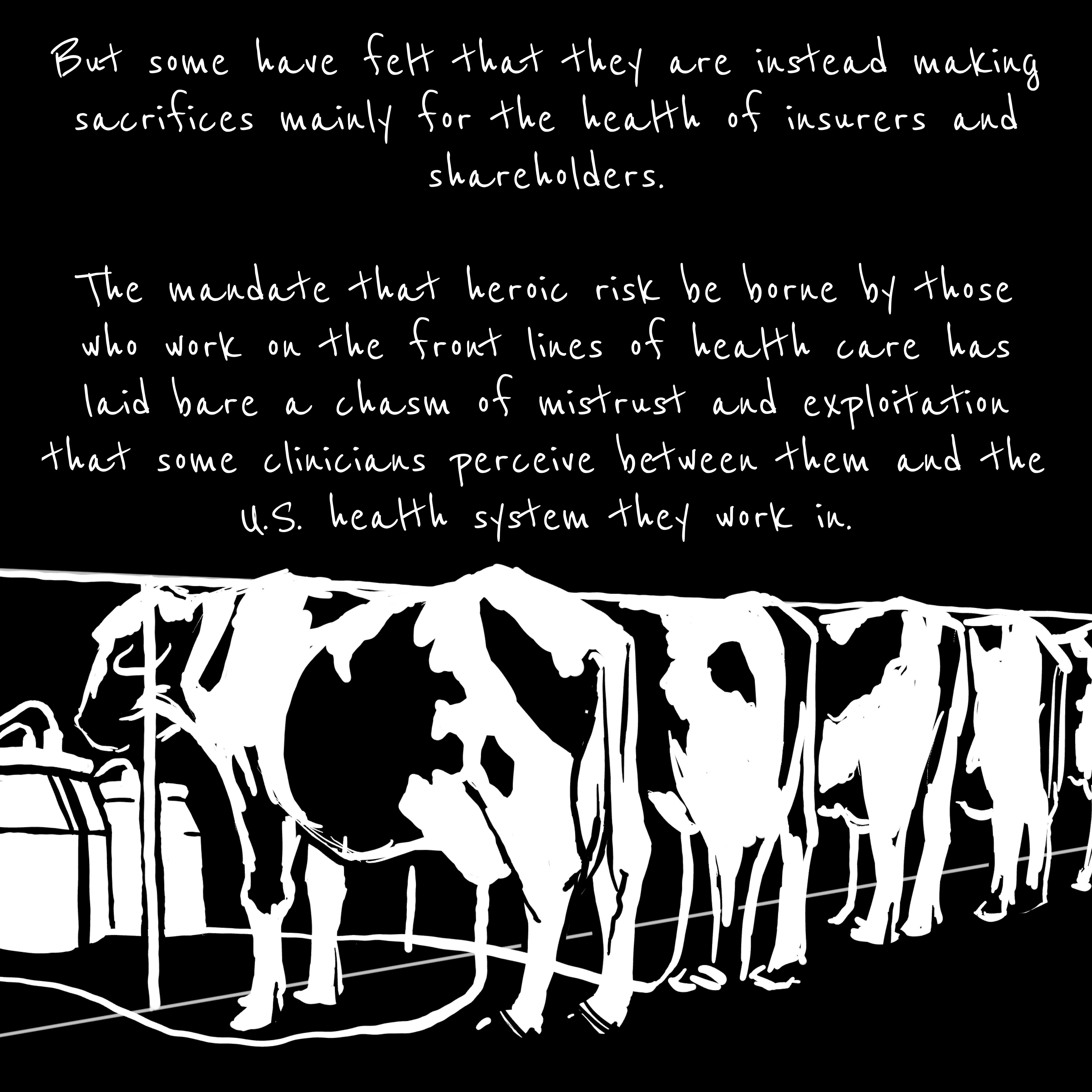 """Cows being milked: """"But many have instead felt that they are making sacrifices for the health of insurers."""""""