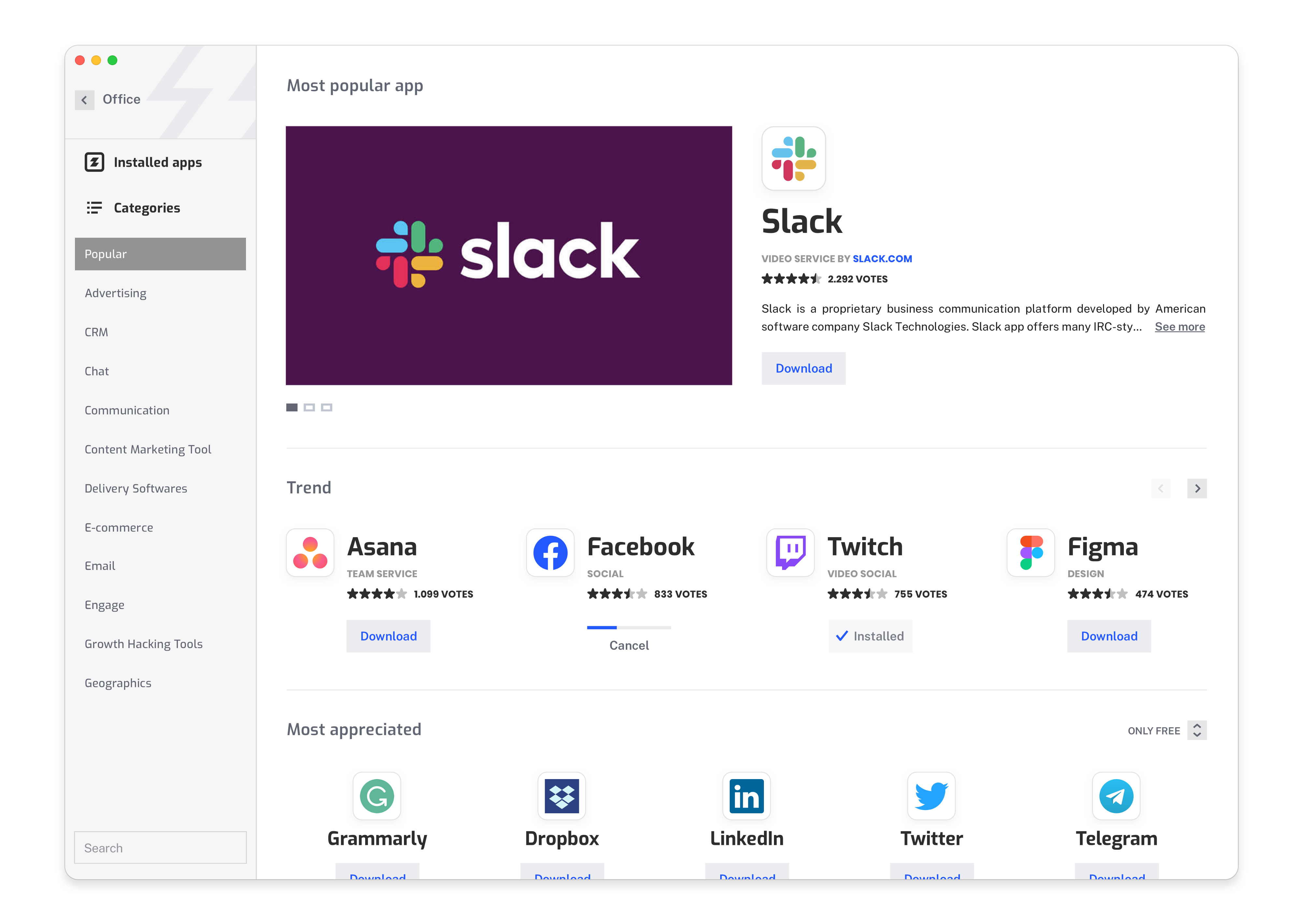 App store redesign 2021 for SMARKEZ — Figma and other apps to work online for social media manager or designers — Ui Ux of Smarkez is a design by Marcello Di Giovanni www.marcellodigiovanni.design