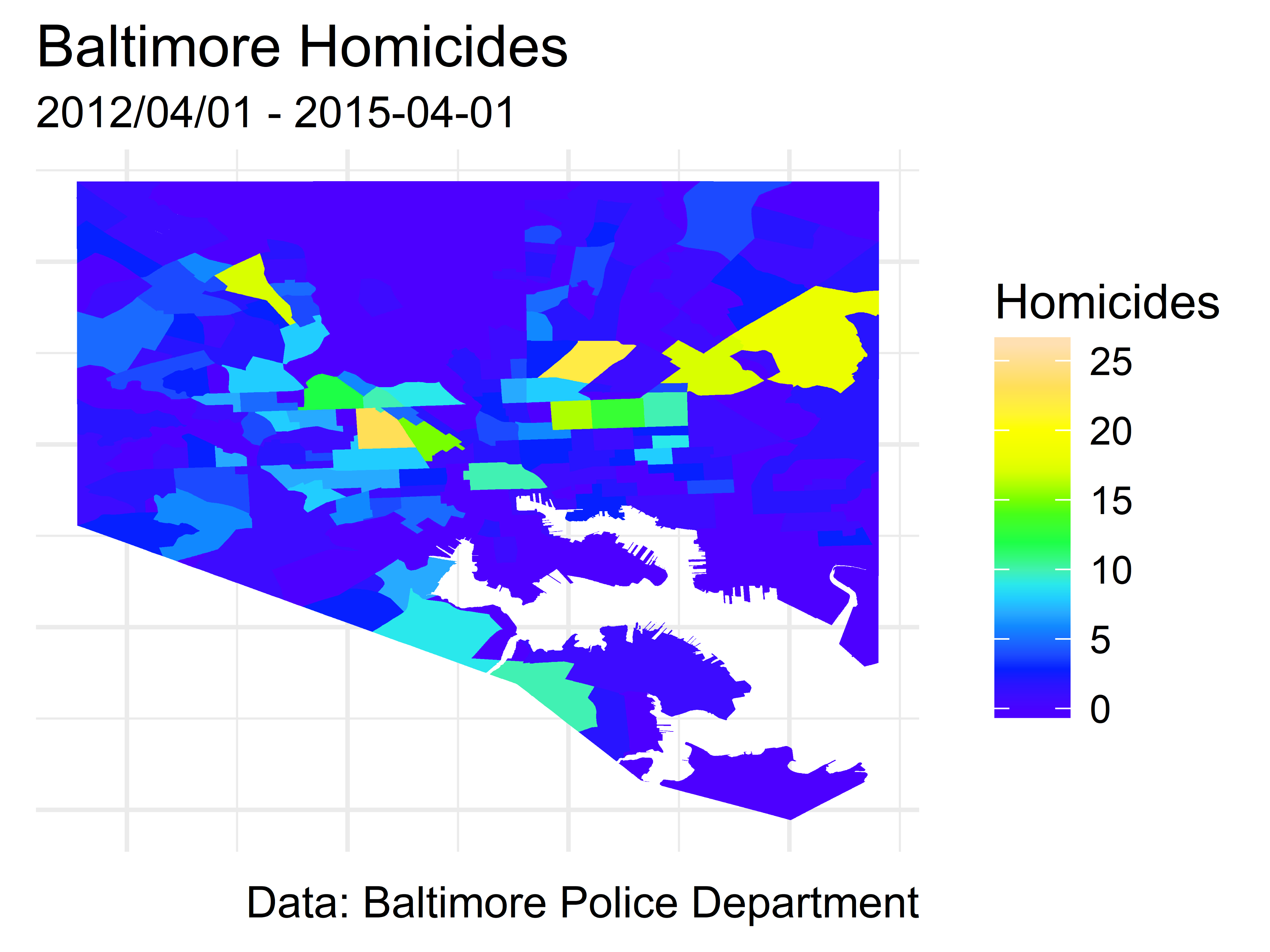 The change in Baltimore homicides since 2015 - Alexander ...