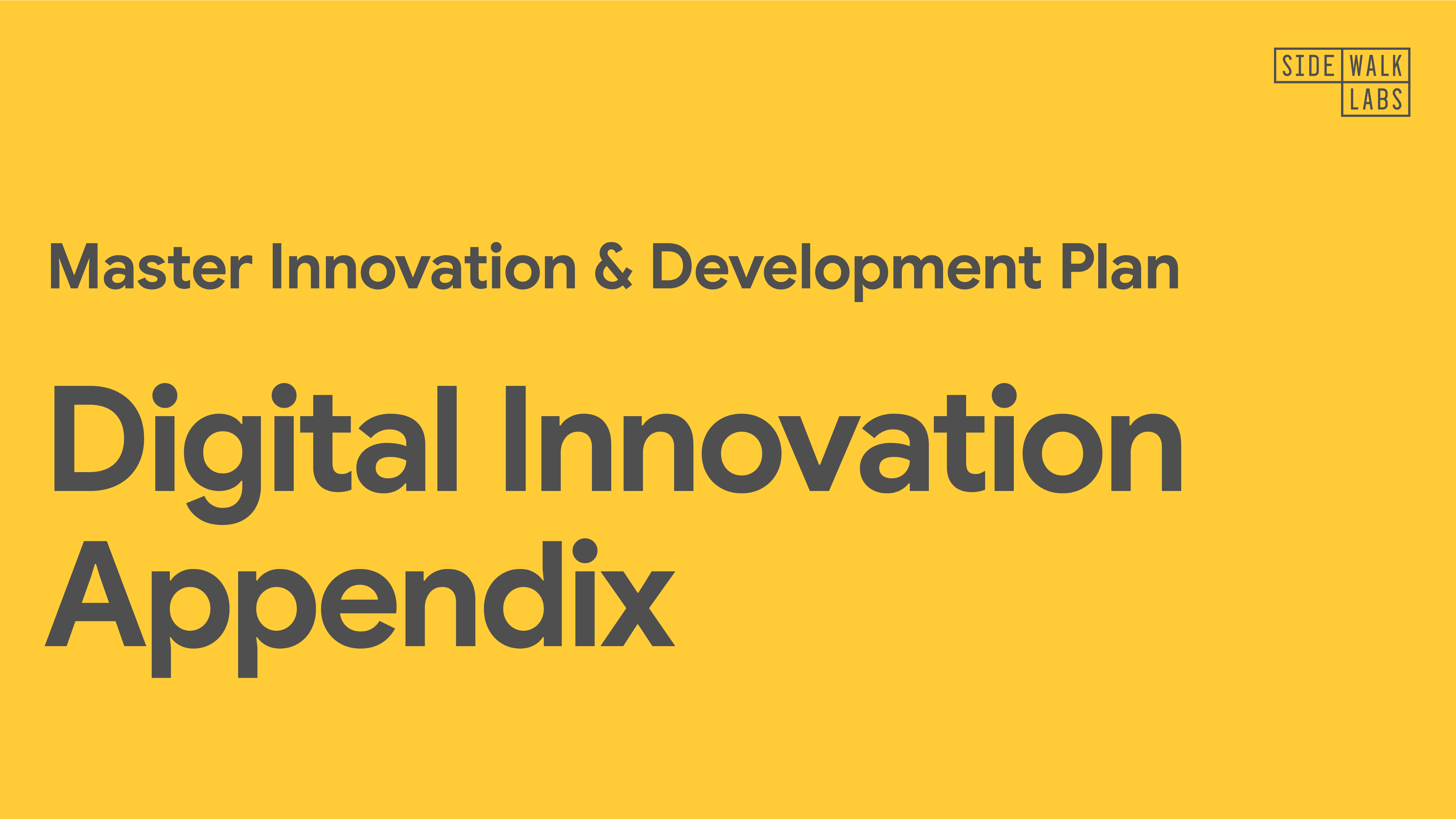 Cover image for the Digital Innovation Appendix.