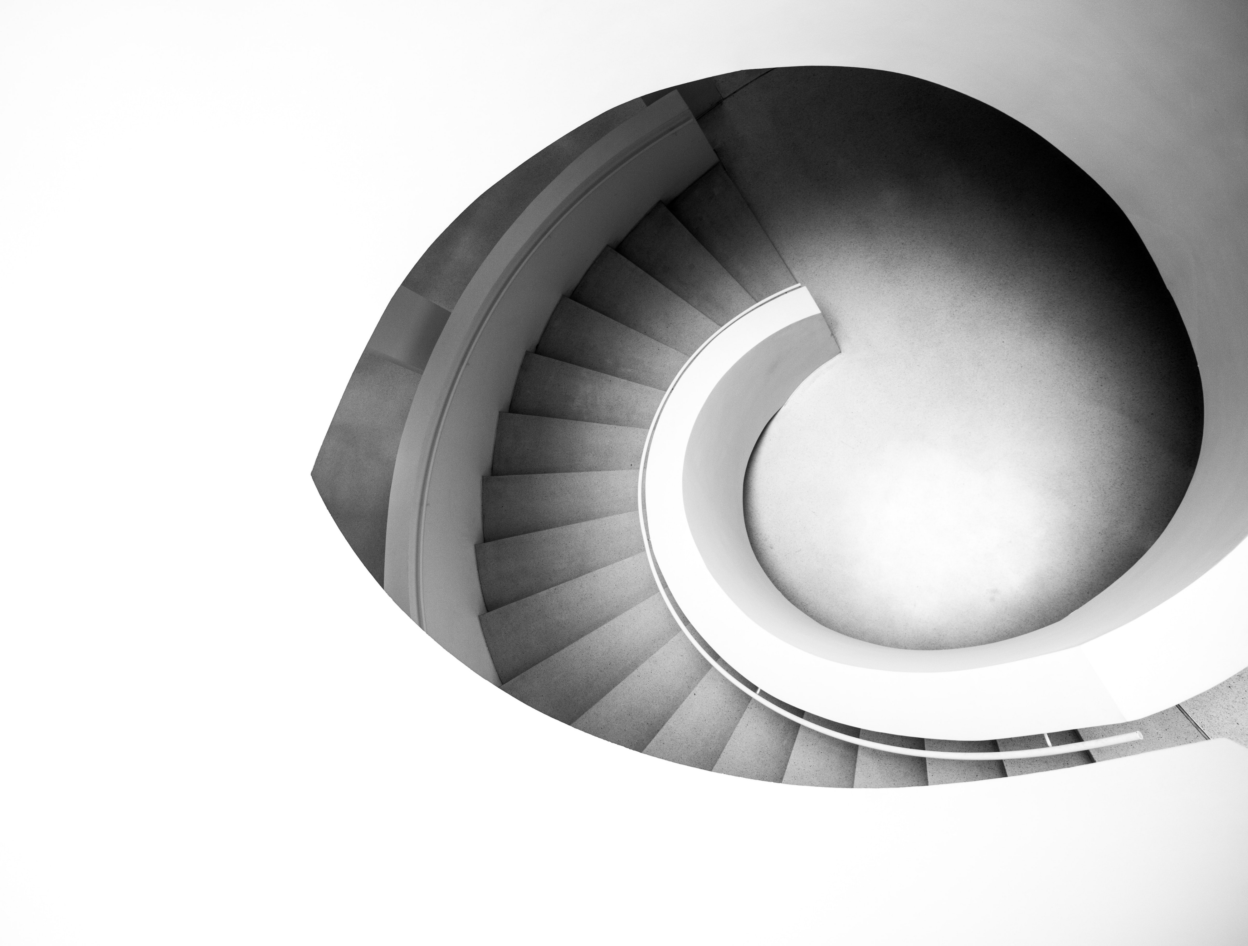 photo of a spiral starewell
