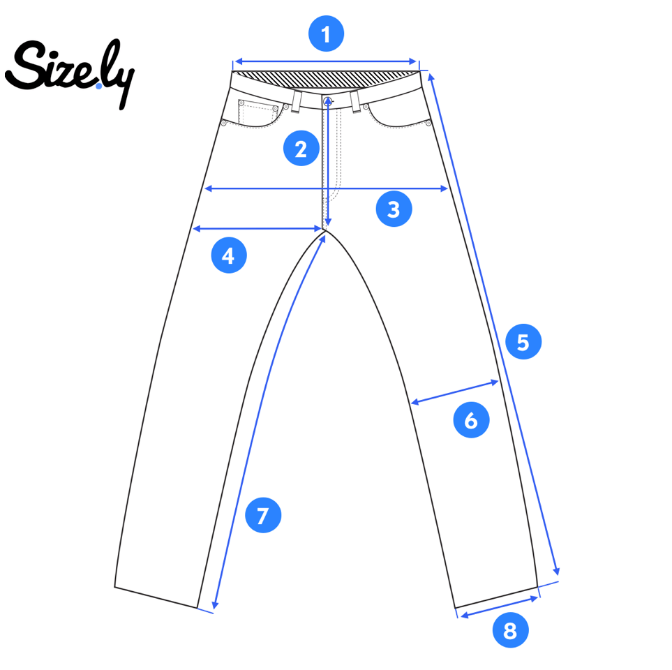 image regarding Printable Tape Measures identify How in the direction of Evaluate Denims? - Sizely - Medium