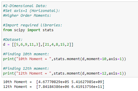 Figure 36: Finding higher order moments. | Moment Generating Function for Probability Distribution with Python