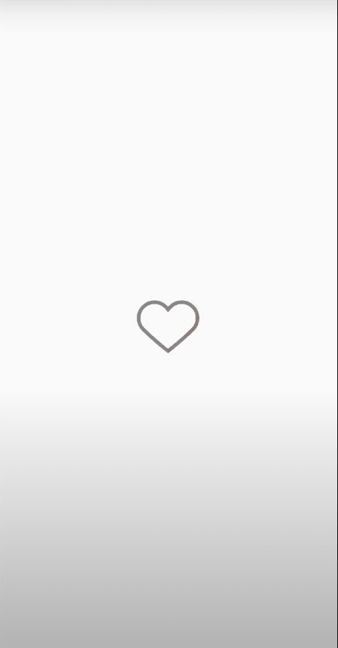 White page with black heart in the middle of it