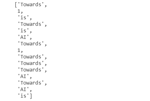 Figure 4: The random output with multiple possibilities in a sequence.