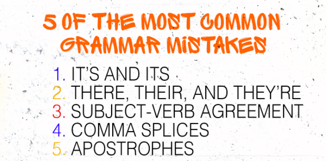 34 Most Commonly Used Grammatical Errors While Writing A Blog