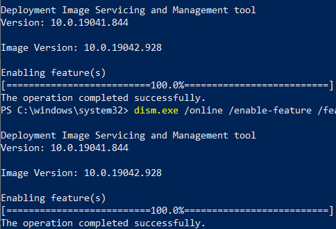 PowerShell is used to install WSL