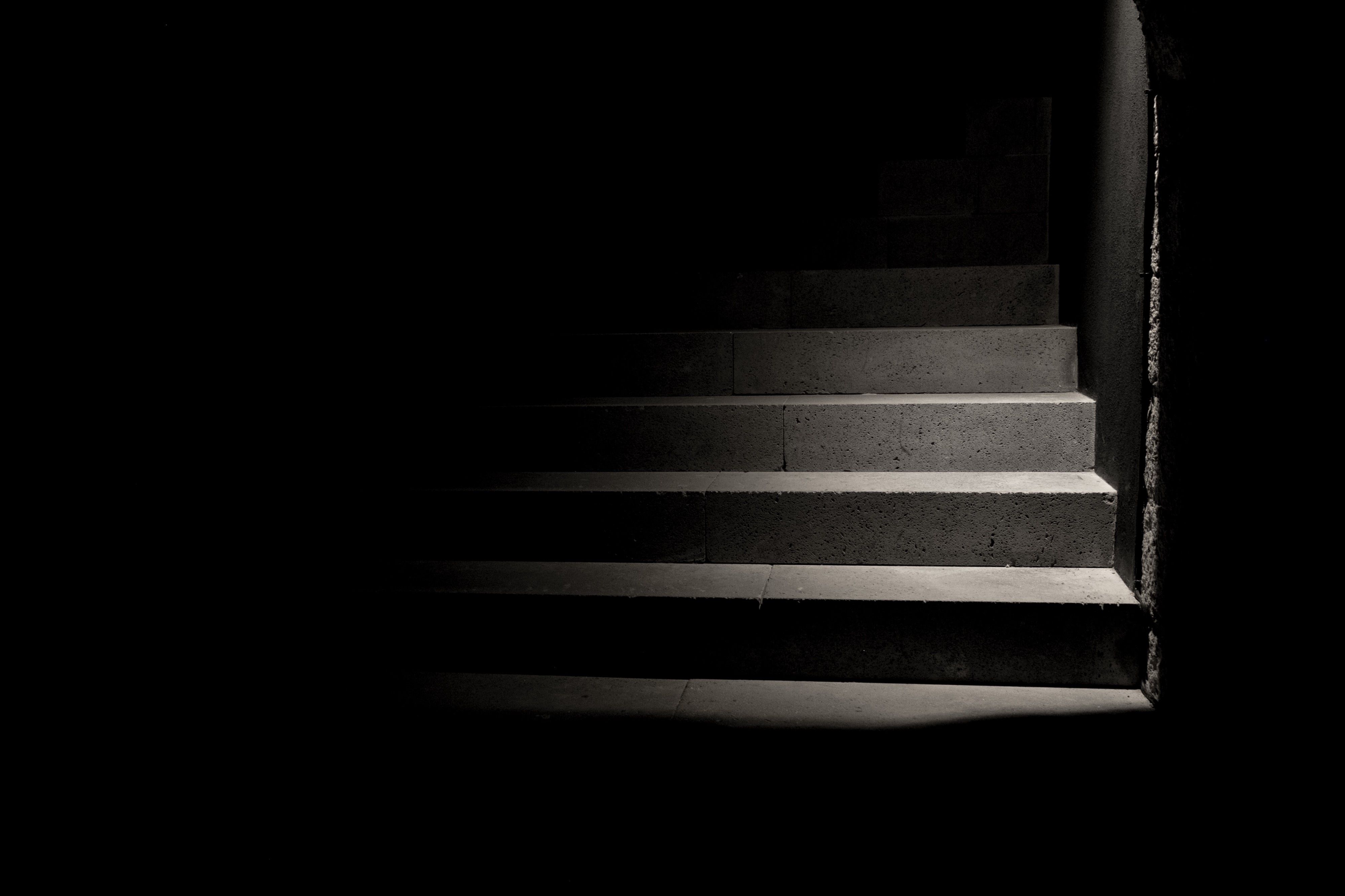 Shadowy stairs leading to an unknown destination