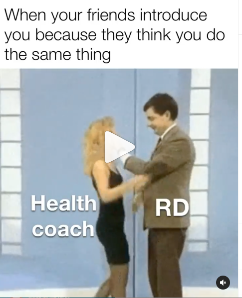 Mr Bean (RD) shaking hands with thin woman (Health coach) at the same time as he's pushing them away.