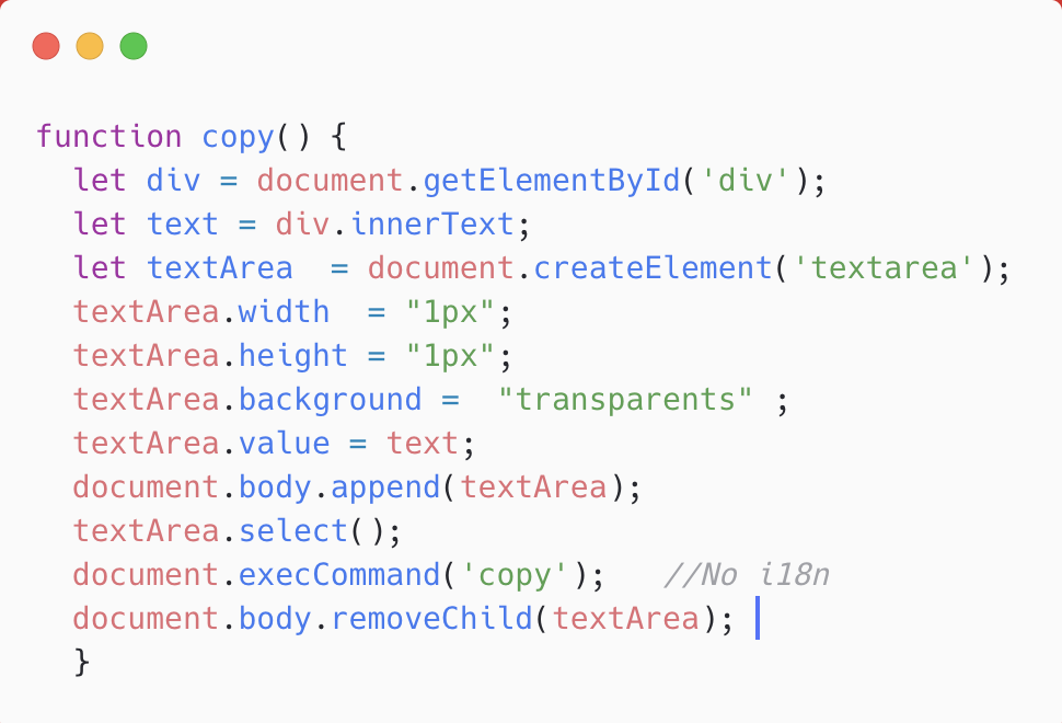 Implement copy-on-click using JavaScript - Level Up Coding