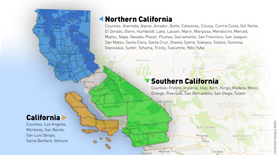 California Possibly Separating Into 3 Different States