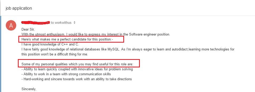 How to write a cover email for job application - Mayur