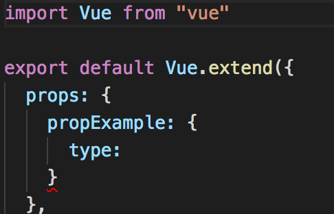 Using a Typescript interface or type as a prop type in VueJS