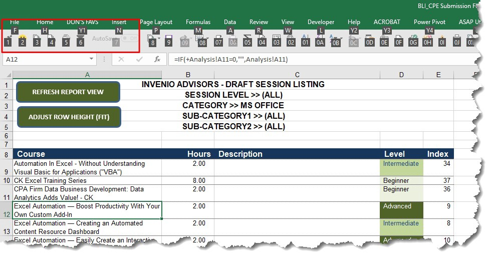MS Excel Tip — Make Your Quick Access Toolbar Even Quicker!