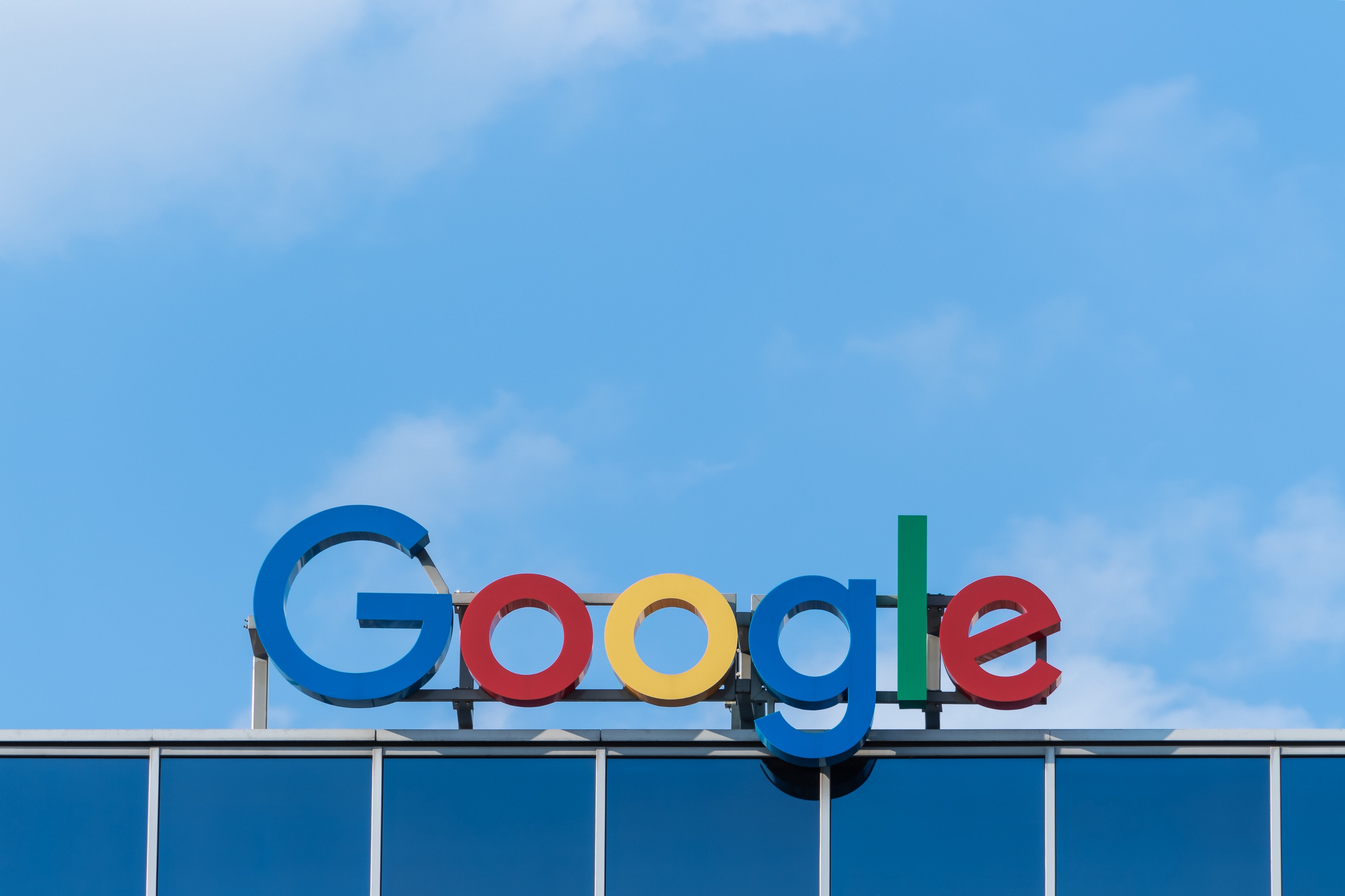 Google sign on building roof