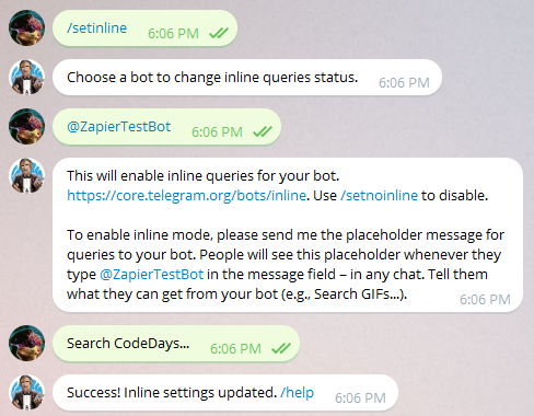 Telegram Bot Example