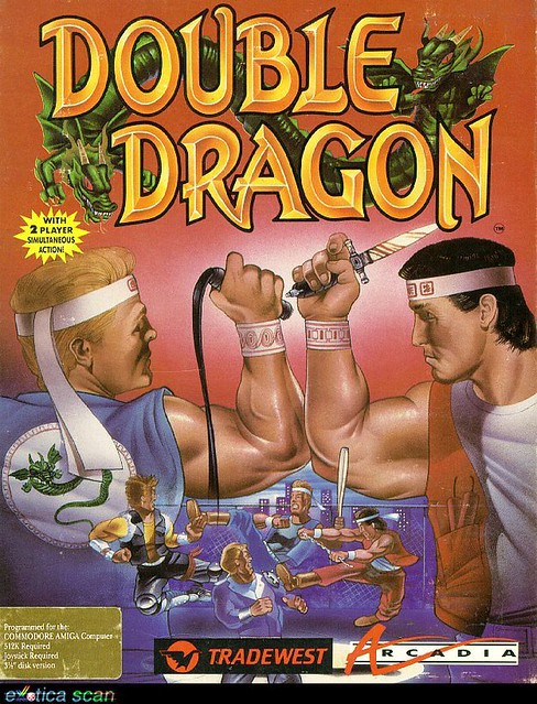 Poster for the Double Dragon video game from '87