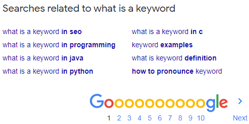 Keyword Related Searches