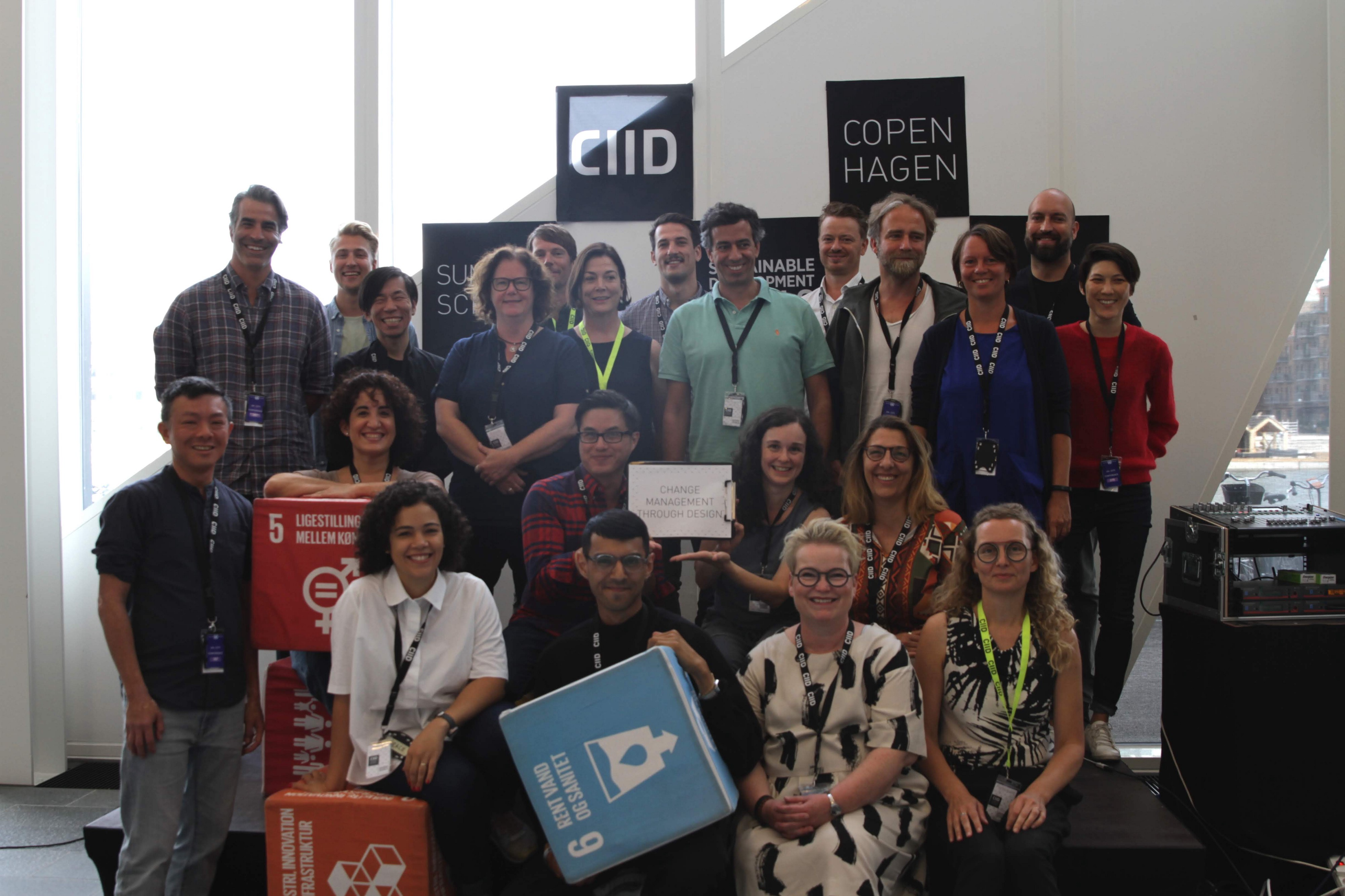 photo of students from the Org Change through Design class—CIID Summer School 2019