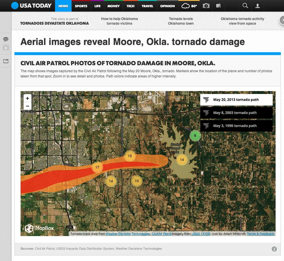 Capturing the Impact of the Oklahoma Tornado - Points of