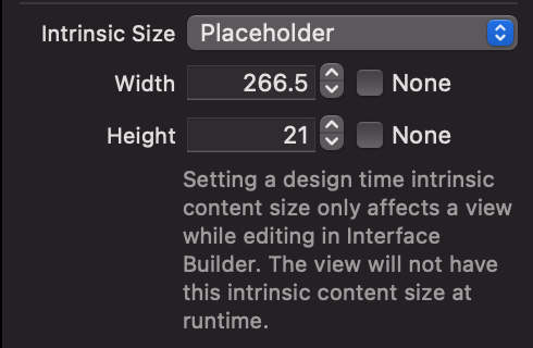 How to apply a placeholder intrinsic size