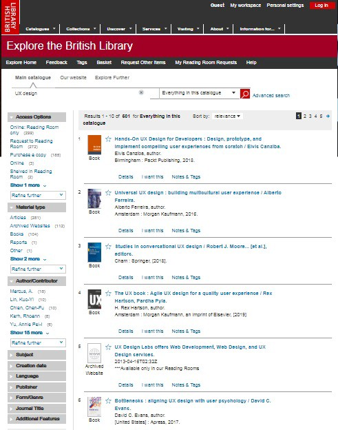 For Better UX Search: Redesigning The British Library Main