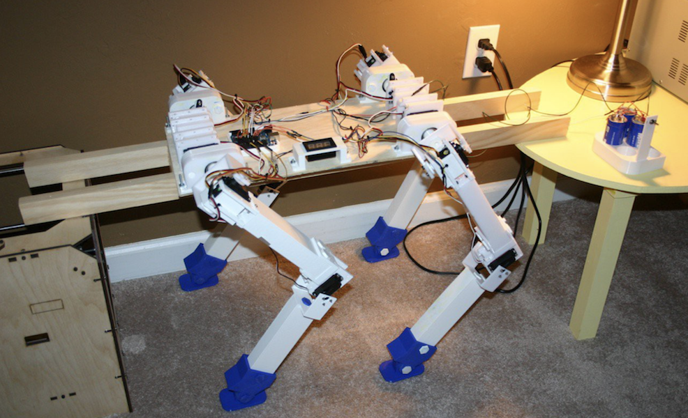 graphic regarding 3d Printable Robot identified as 3D-Released Robotic Pet dog - Hackster Blog site