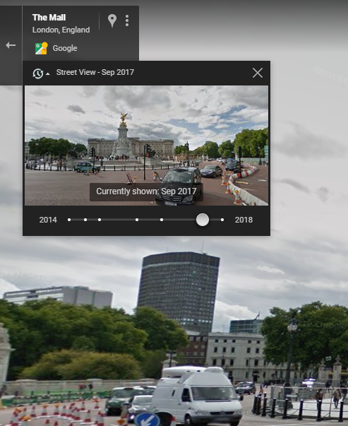 Google Maps timeline feature