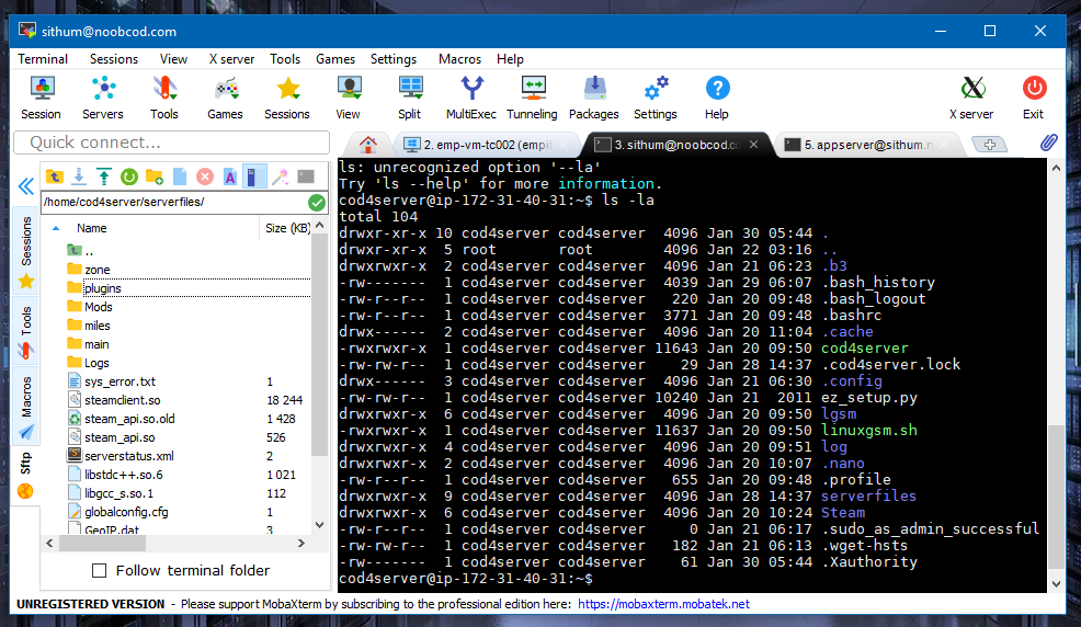 Connect Linux and Windows environments, transfer files and