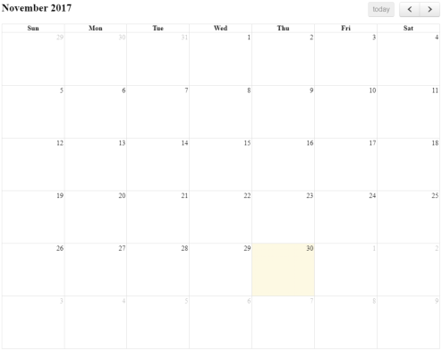 How to implement swipe in Full Calendar Js - Oceanize Geeks