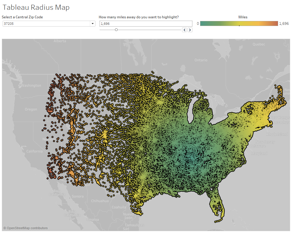 Easy Radius Maps in Tableau - Data Distilled - Medium