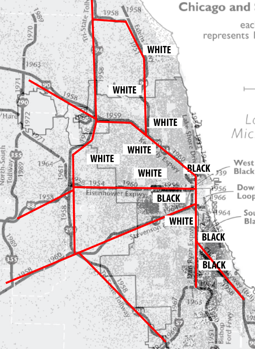 "How Chicago Built its ""Superhighways"" - Tomasz - Medium on city of los angeles map, city of boise airport map, city of gold coast map, city of elgin map,"