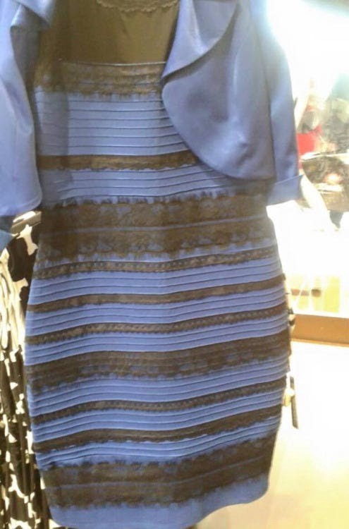 the dress that shook the internet. Is it black and blue or white and gold?
