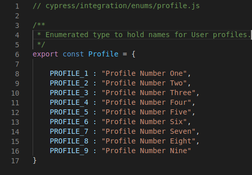 Implementation of the Profile enum.