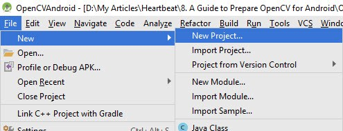 A Guide to Preparing OpenCV for Android - Heartbeat