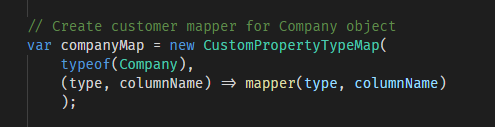 Custom Columns Mapping - Dapper  NET - Medium