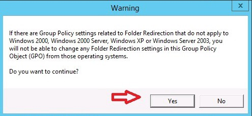 Configuring Folder Redirection through Group Policy