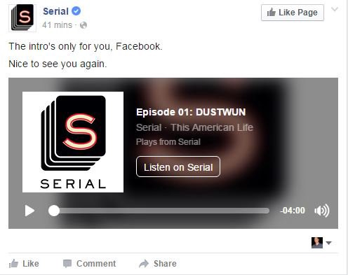 What is the best way to share your audio on Facebook?