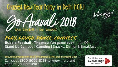 New year Event 2017 - 2018 in Delhi