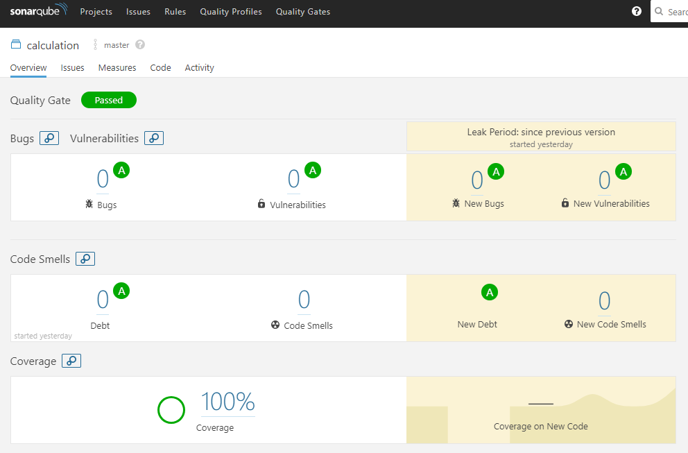 Collecting test coverage using Coverlet and SonarQube for a
