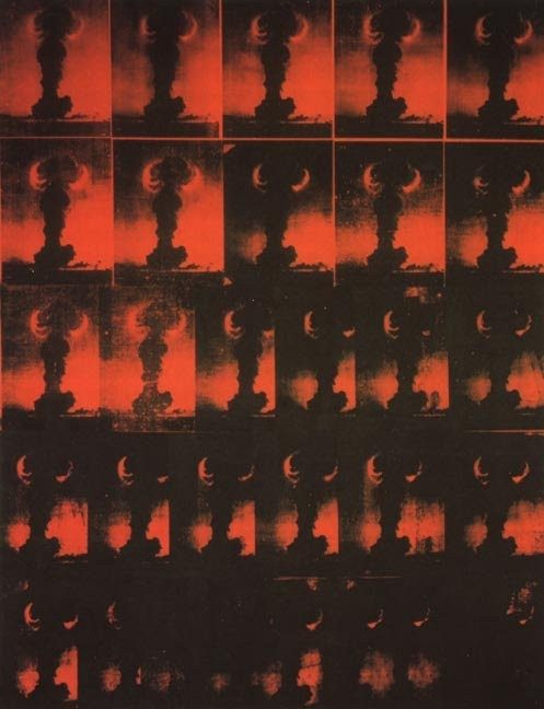 Andy Warhol, Red Explosion [Atomic Bomb], 1963