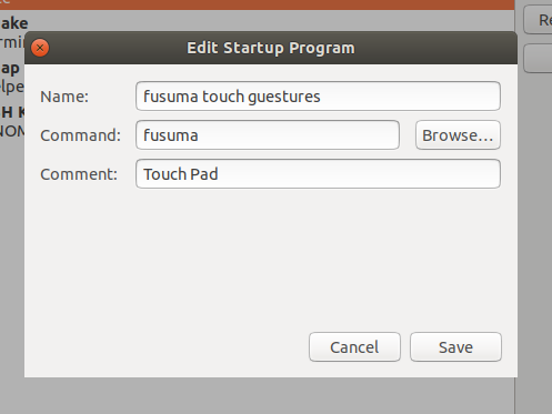 Gesture Manager Linux