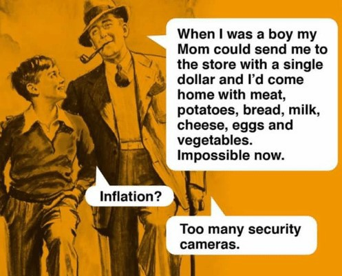 A light-hearted inflation ice-breaker.