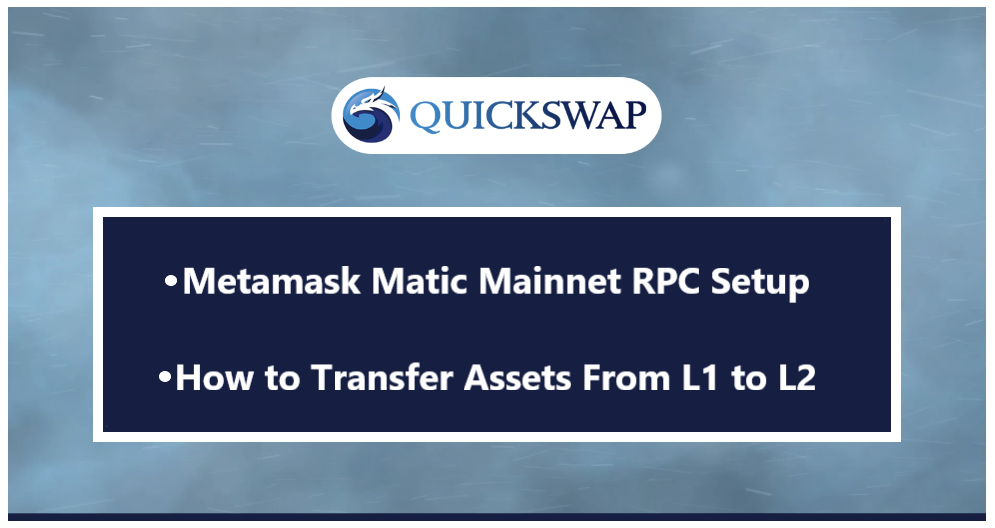 Guide: How to Set Up Custom Matic Mainnet RPC for Metamask & Transfer Assets from L1 to L2 to use…