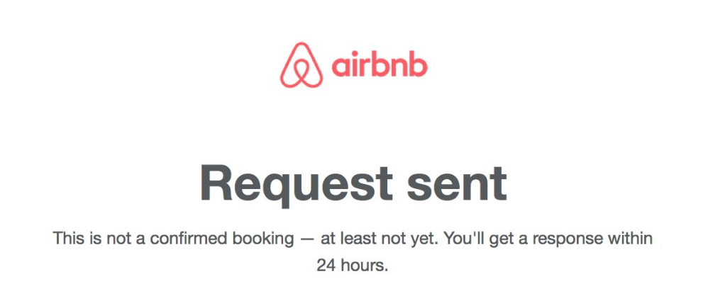 Airbnb Booking System Notification screenshot