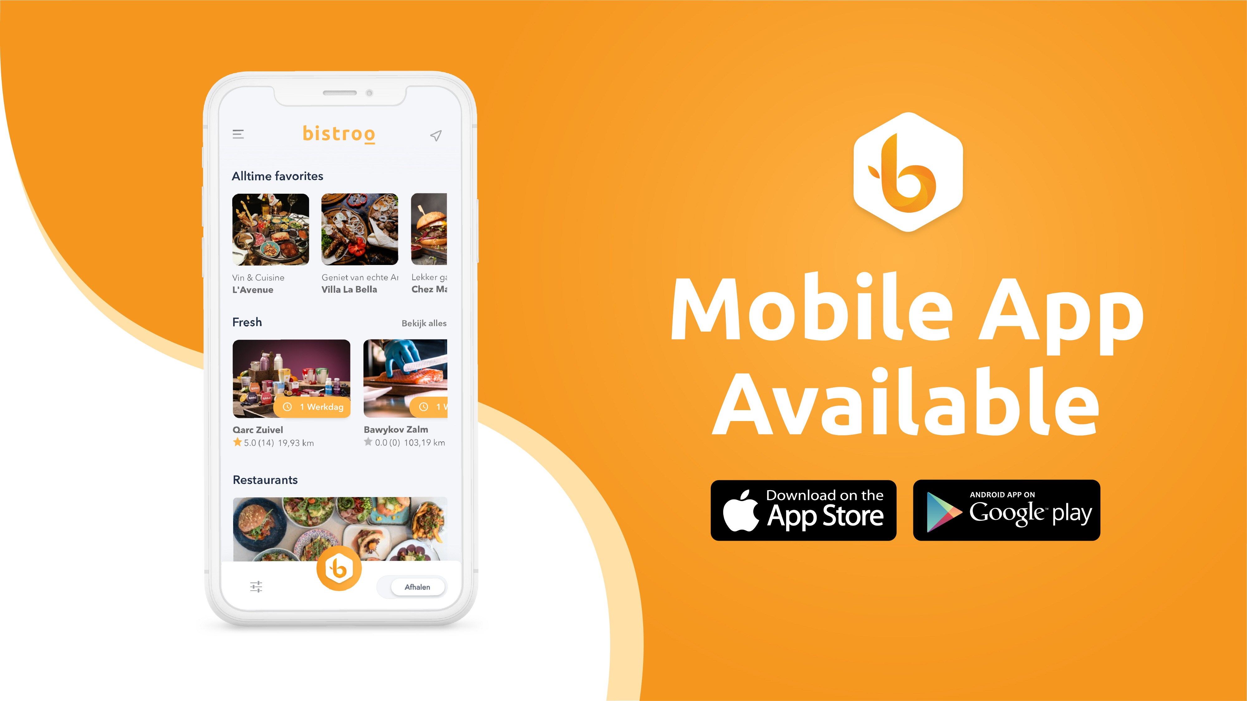 Bistroo native mobile app release in google and apple playstores