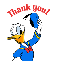 Donald Duck says Thank you!